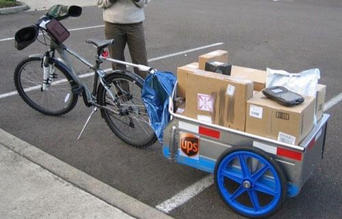 Доставка корреспонденции UPS велосипедами